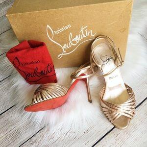 Christian Louboutin Brushed Rosegold Heels